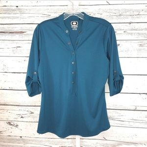 Ogio blouse size M teal